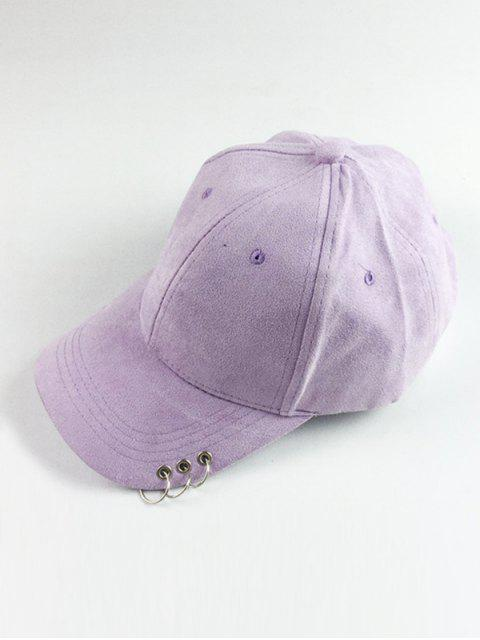 best Circle Hoop Faux Suede Baseball Hat - LIGHT PURPLE  Mobile