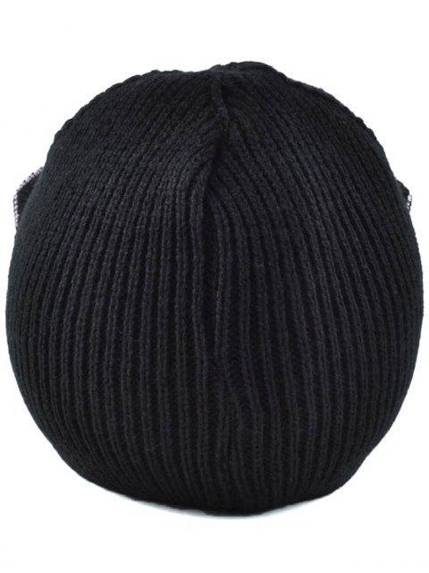 fancy Moon Knit Cat Ear Hat - BLACK  Mobile