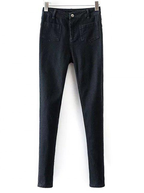 online Skinny Jeans With Pockets - BLACK XL Mobile