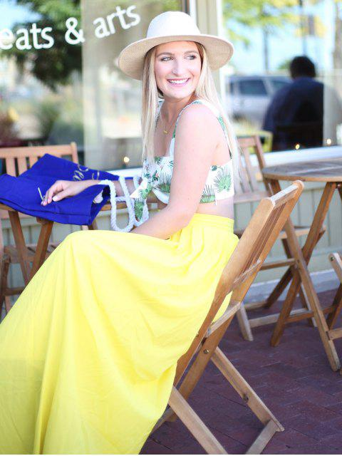 shop High-Waisted Maxi Skirt - YELLOW M Mobile