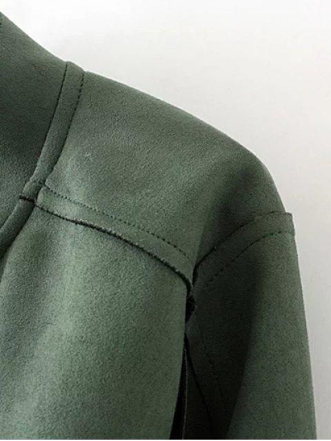 hot Plus Size Suede Jacket - GREEN XL Mobile