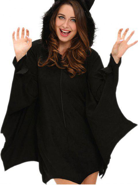 fashion Halloween Bat Wings Cosplay Costume - BLACK L Mobile