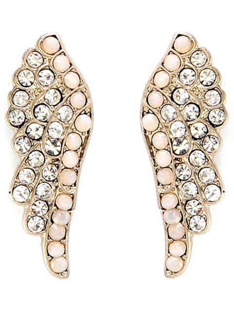 unique Angel Wings Rhinestone Earrings - GOLDEN  Mobile