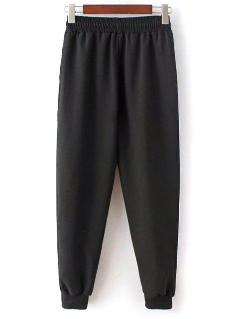 best Drawstring Design Jogging Pants - BLACK L Mobile