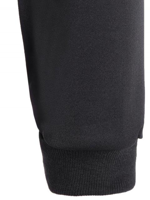 best Letter Pattern Cropped Sweatshirt - BLACK S Mobile
