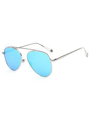 Ligera Metal Con Espejo Gafas De Sol De Piloto - Azul Hielo
