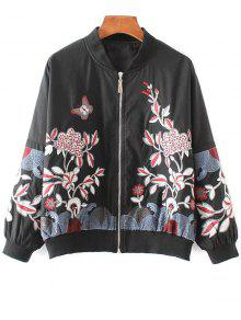 Embroidered Souvenir Jacket - Black S