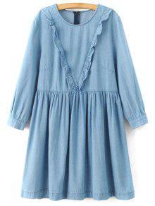 Jabot A Dress Denim Ligne - Bleu Clair S