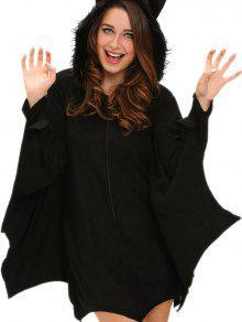 Halloween Bat Wings Cosplay Costume - Black L