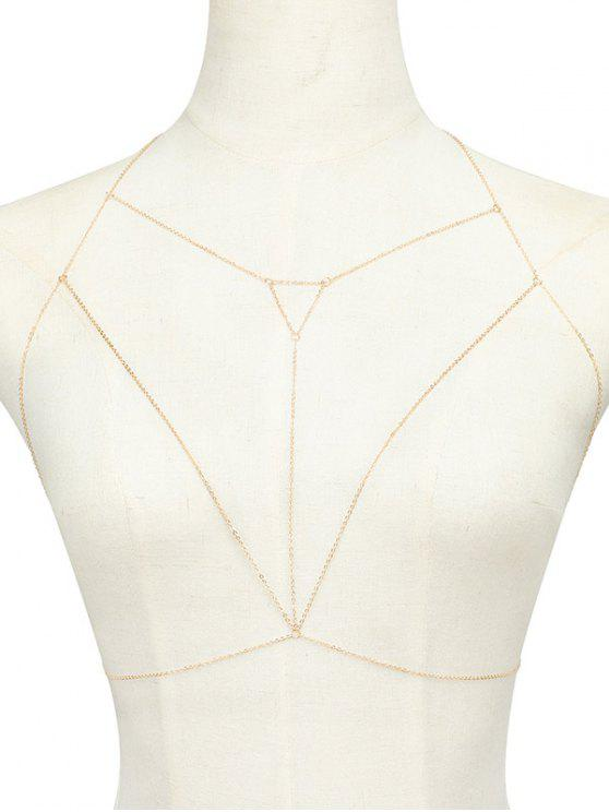 buy Alloy Hollow Out Triangle Body Chain - GOLDEN