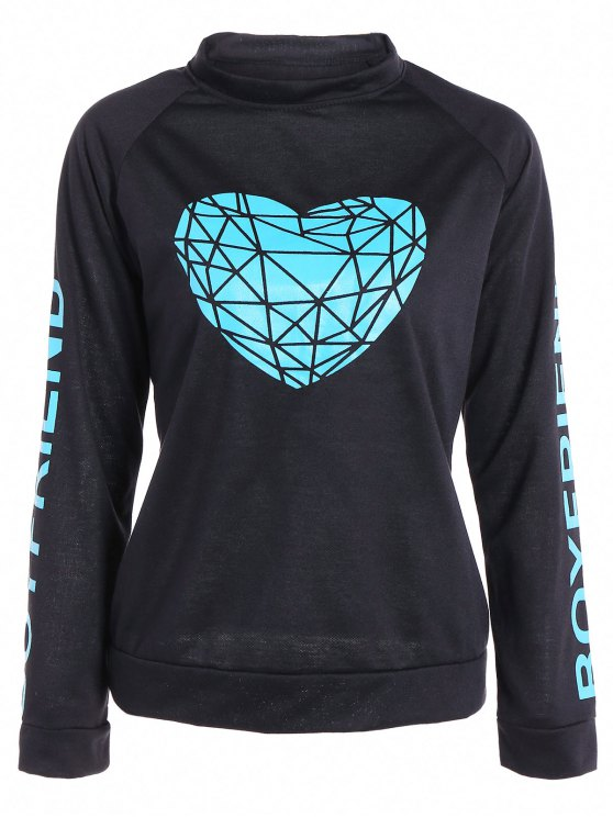 Coeur Sweatshirt Pattern - Noir M