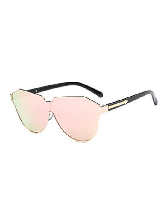 فراشة درع مرآة نظارات - الضحلة الوردي