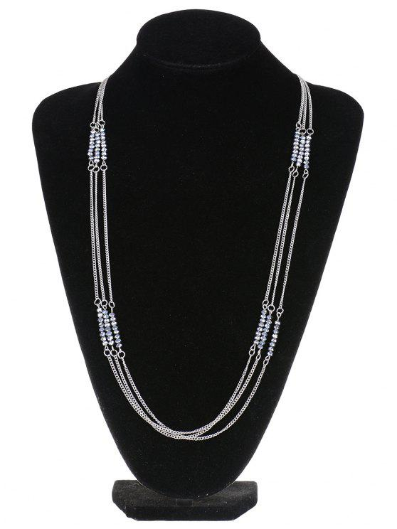 wrap necklace antiqued jenne silver product statement rayburn unique chains chain