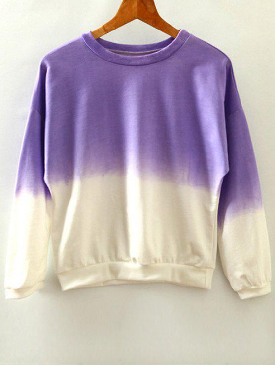 Ombre Sweat-shirt - Pourpre  Taille Unique