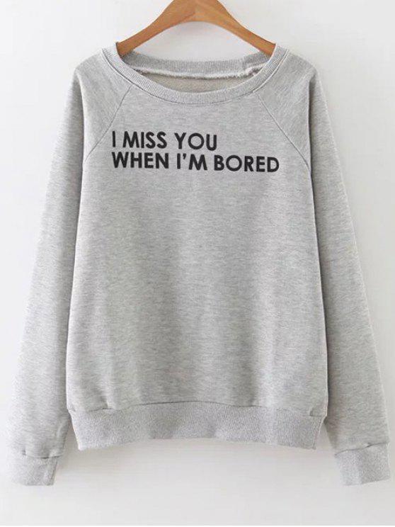 letras de la camiseta - Gris M