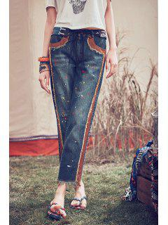 Ankle Length Straight Jeans - Blue M