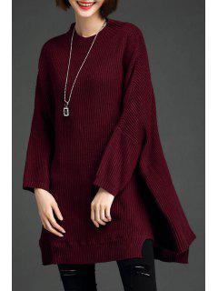 Suéter De Gran Tamaño Batwing - Vino Rojo