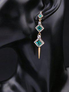 Pendientes De La Turquesa De Imitación De Diamantes De Imitación De Cristal - Verde