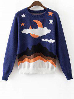 Seascape Jacquard Knit Jumper - Bleu Violet S