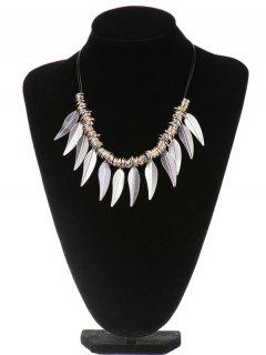 Circle Leaves Statement Necklace - Silver