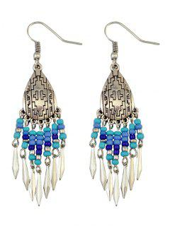 Chandelier Hook Earrings - Blue