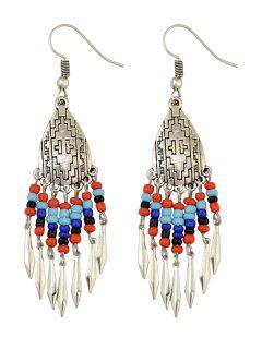 Chandelier Hook Earrings - Deep Blue