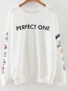 Imprimé Sleeve Sweatshirt - Blanc S