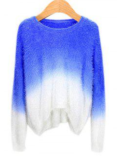 Ombre Mohair Sweater - Sapphire Blue