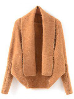Convertible Batwing Sleeve Cardigan - Camel