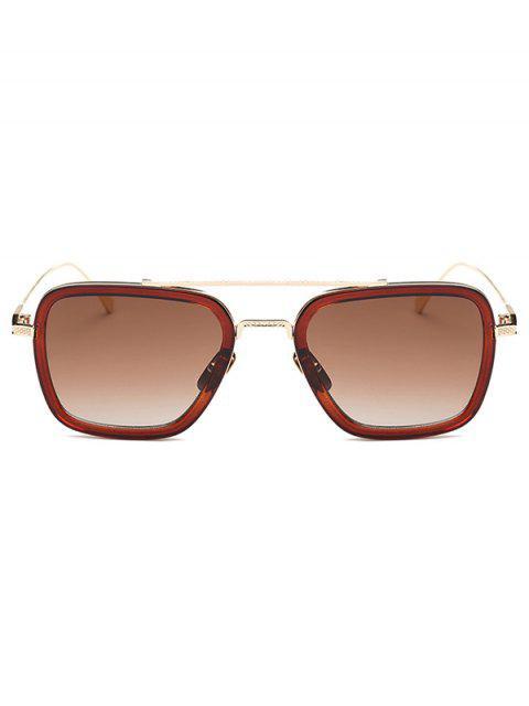shop Irregular Double-Deck Rims Sunglasses - TEA-COLORED  Mobile