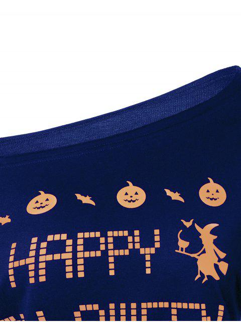 latest Witches Halloween Sweatshirt - BLUE XL Mobile