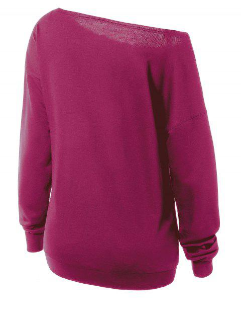 womens Witches Halloween Sweatshirt - PURPLISH RED L Mobile