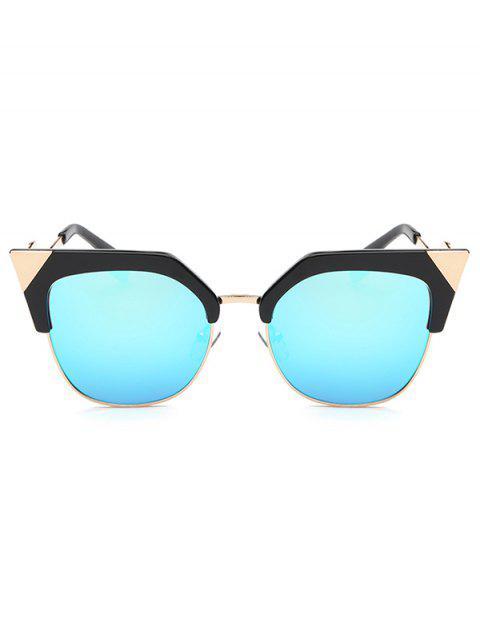 sale Triangle Zigzag Leg Cat Eye Mirrored Sunglasses -   Mobile