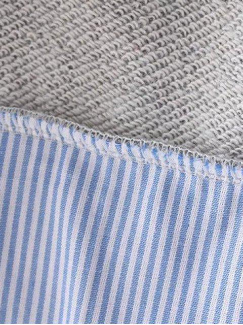 Étoile Motif Layered Hem Sweatshirt - Noir S Mobile