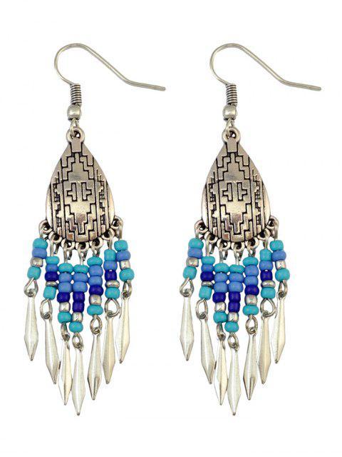 affordable Chandelier Hook Earrings - BLUE  Mobile