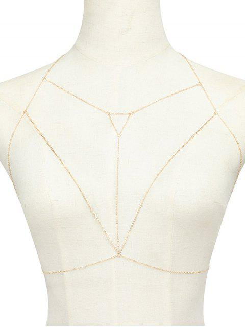Chaîne de corps ajourée triangulaire en alliage - Or  Mobile