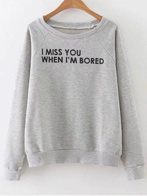 Lettrage Sweatshirt - Gris M Mobile