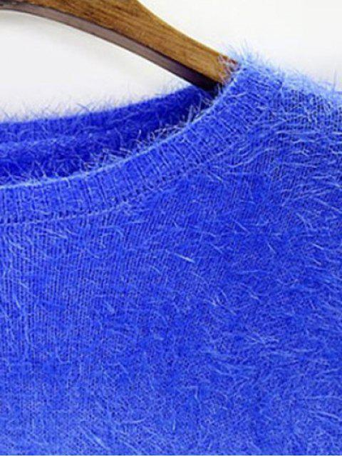 buy Ombre Mohair Sweater - SAPPHIRE BLUE ONE SIZE Mobile