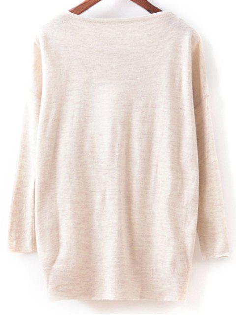 ladies Cartoon Pattern Knitwear - OFF-WHITE ONE SIZE Mobile