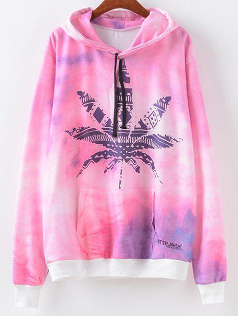 hot Maple Leaf Print Hoodie - MAPLE PATTERN M Mobile