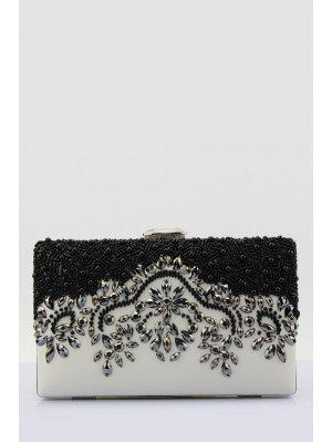 Beading Color Splice Evening Bag