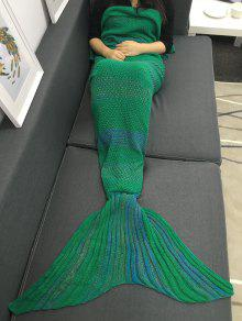 عالية الجودة سوبر لينة الكروشيه محبوك حورية البحر الذيل أريكة بطانية - أخضر