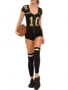 Nombre Imprimer Cosplay Costume Football Halloween - Noir M