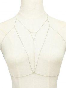 Alloy Hollow Out Triangle Body Chain - Silver