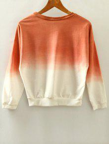 Ombre Pullover Sweatshirt; Ombre Pullover Sweatshirt. affordable Ombre  Pullover Sweatshirt - BRICK-RED ONE SIZE