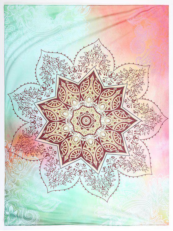 fancy Lotus Flower Beach Blanket - COLORMIX L
