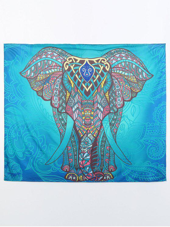 womens Rectangle Elephant Beach Throw - MULTI M