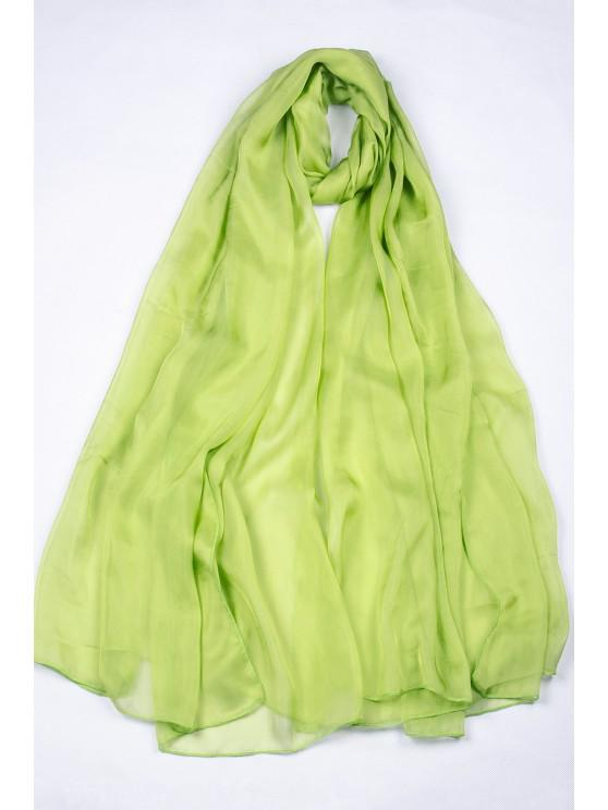 women Casual Vibrant Chiffon Scarf - LIGHT GREEN XL