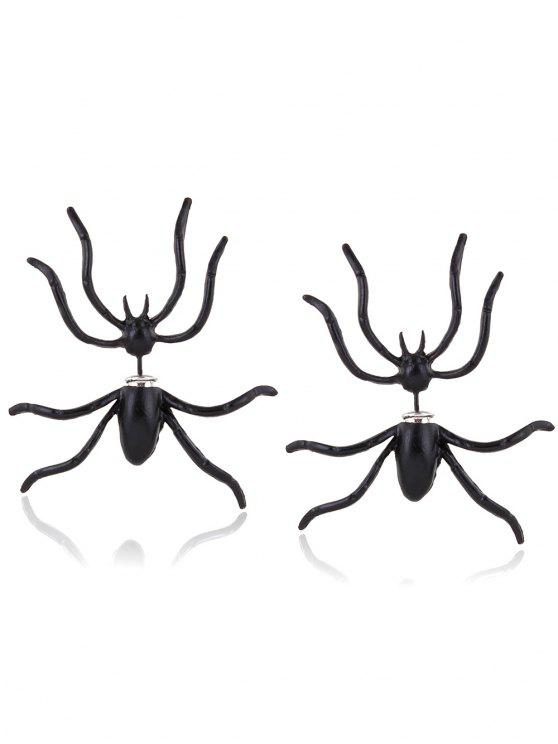 shop Spider Shape Stud Earrings - BLACK