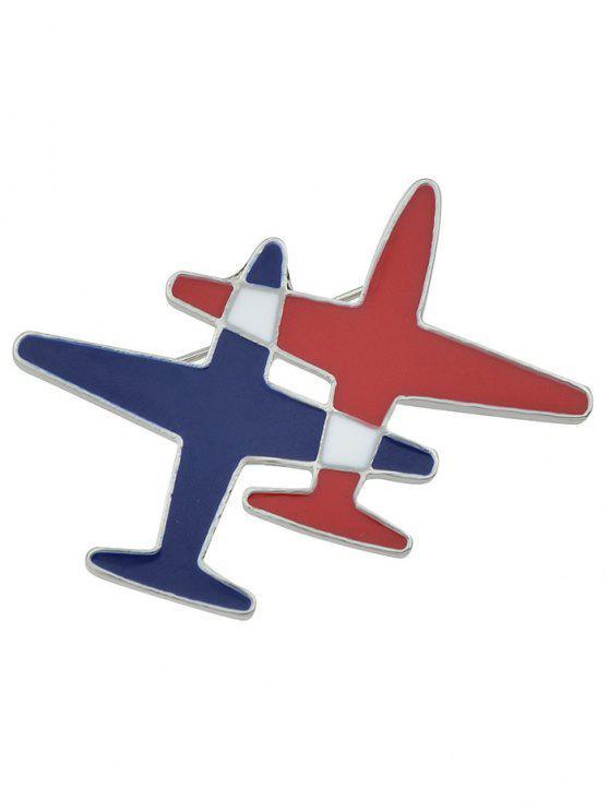 chic Flight Shape Enamel Brooch - RED